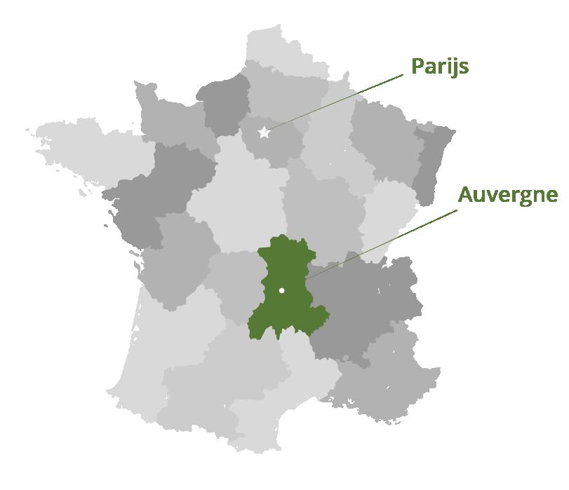 Locatiekaartje Auvergne